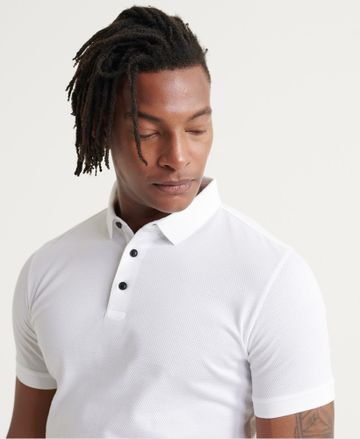 Superdry | White Solid Polo T-Shirt