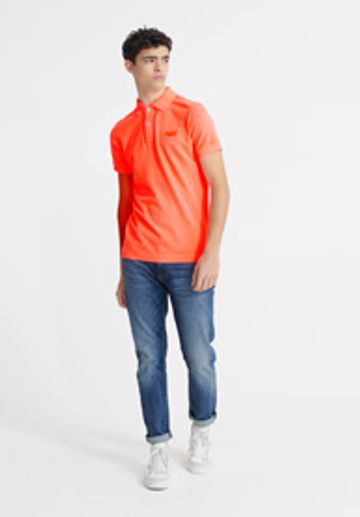 Superdry | Orange Solid Polo T-Shirt