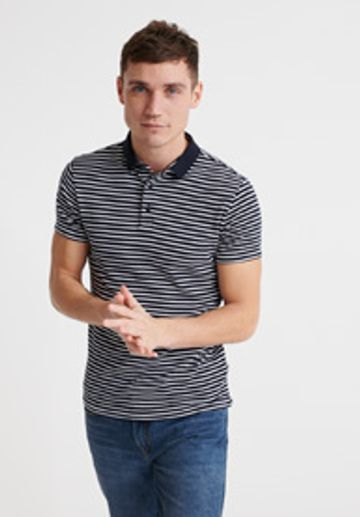 Superdry | Blue Striped Polo T-Shirt