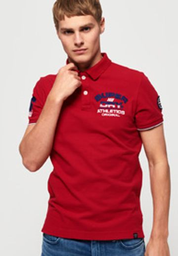 Superdry   Superdry Red Men Polos