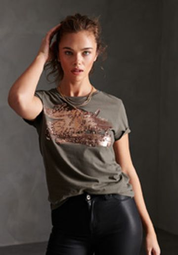 Superdry | THE REAL FOIL SEQUIN ENTRY TEE