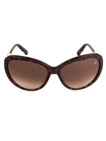 swarovski | SWAROVSKI Oval Sunglass with Brown  Lens for Women