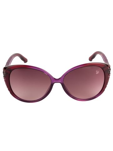 swarovski | SWAROVSKI Oval Sunglass with Purple  Lens for Women