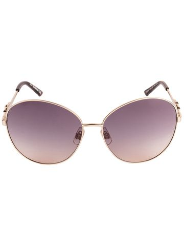 swarovski | SWAROVSKI Oval Sunglass with Purple  Lens for Women