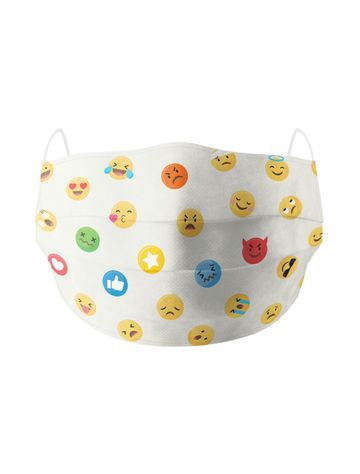 Soxytoes | Soxytoes Off White Stylish Protective Washable Mouth Cover Face Mask