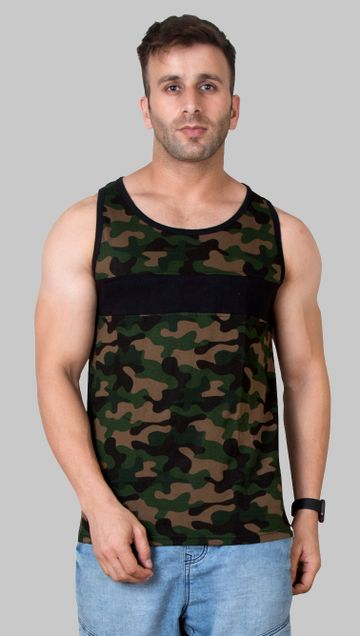 VEIRDO | Veirdo Camouflage Sleeveless T-shirt