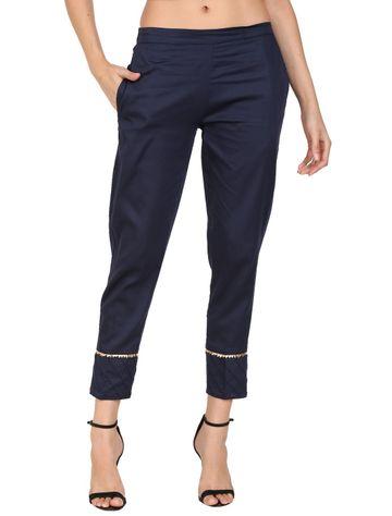 DEVS AND DIVAS | DEVS AND DIVAS Midnight Blue Ethnic Pant Trouser For Women