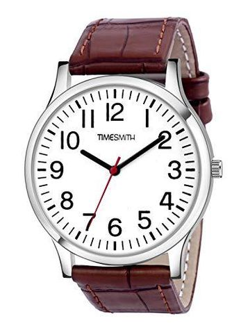 Timesmith | Timesmith Brown Leather Blue Dial Watch For Men CTC-004 For Men