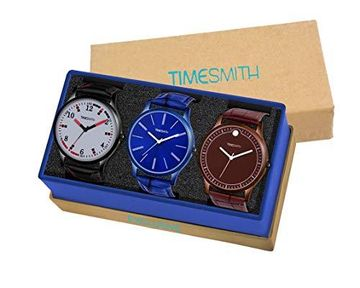 Timesmith | Timesmith Formal Combo Gift Set of 3 Analog Watches For Men and Boys CTC-005-006-008 For Men