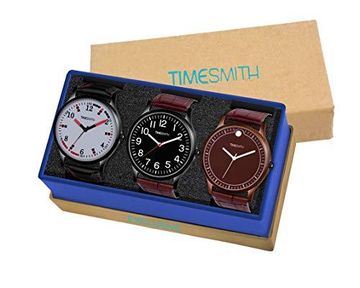 Timesmith | Timesmith Formal Combo Gift Set of 3 Analog Watches For Men and Boys CTC-005-008-011 For Men