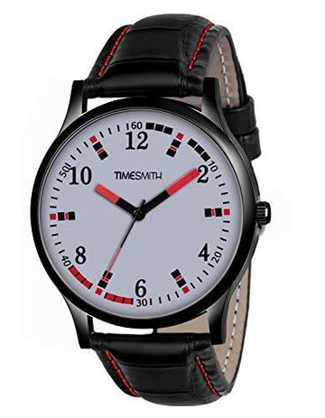 Timesmith | Timesmith Black Leather White Dial Watch For Men CTC-005 For Men