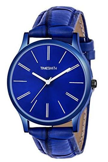 Timesmith | Timesmith Blue Leather Blue Dial Watch For Men with Free Sunglasses CTC-006-wmg-002 For Men
