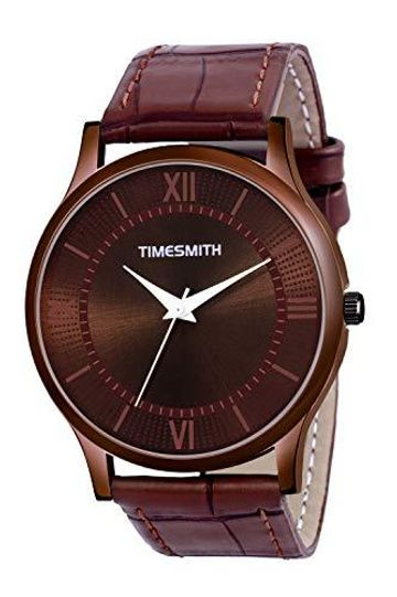 Timesmith | Timesmith Brown Leather Brown Dial Watch For Men CTC-009 For Men