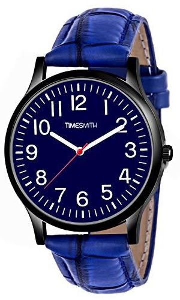 Timesmith | Timesmith Blue Leather Blue Dial Watch For Men CTC-013 For Men