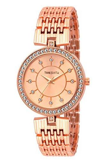Timesmith | Timesmith Gold Dial Gold Stainless Steel Strap Branded Analog Watch for Women TSC-046 For Women