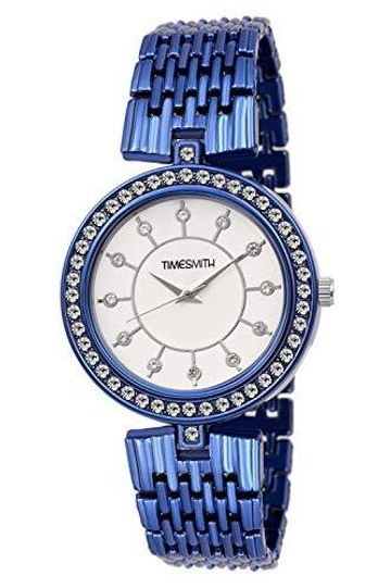 Timesmith | Timesmith White Dial Blue Stainless Steel Strap Branded Analog Watch for Women TSC-047 For Women