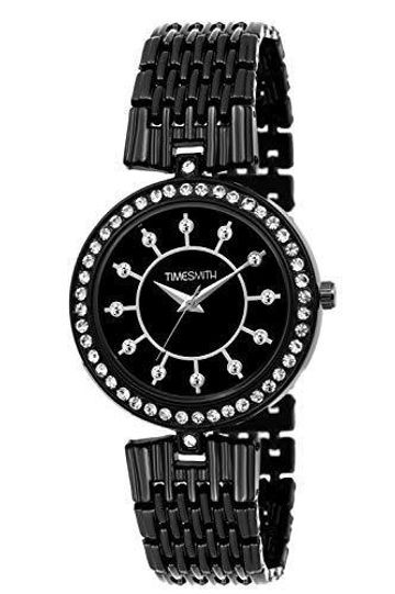 Timesmith   Timesmith Black Dial Black Stainless Steel Strap Branded Analog Watch for Women TSC-049 For Women