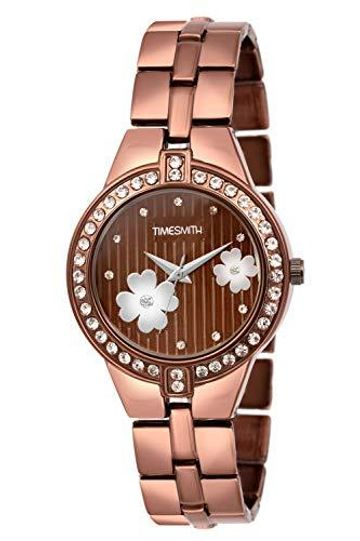 Timesmith | Timesmith Brown Dial Brown Stainless Steel Strap Branded Analog Watch for Women TSC-050 For Women