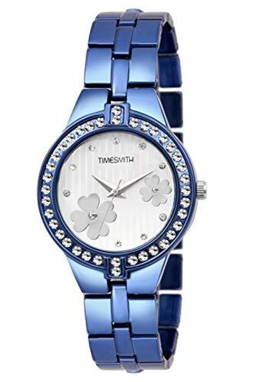 Timesmith | Timesmith White Dial Blue Stainless Steel Strap Branded Analog Watch for Women TSC-051 For Women