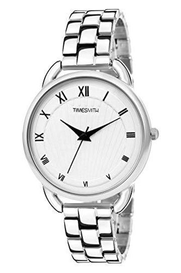 Timesmith | Timesmith White Dial Silver Stainless Steel Strap Branded Analog Watch for Women TSC-056 For Women