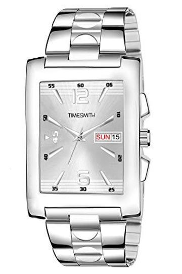 Timesmith | Timesmith White Steel Day Date Watch for Men TSC-110 For Men