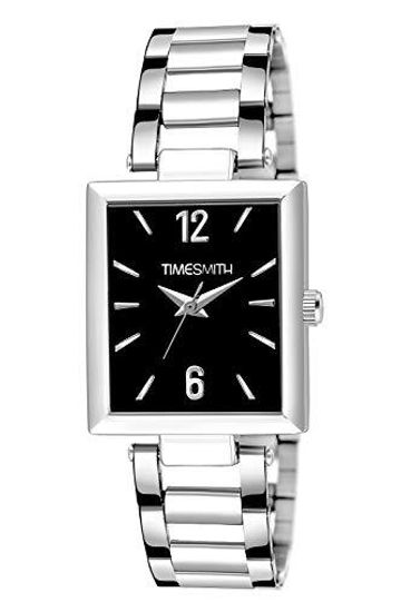Timesmith | Timesmith Silver Stainless Steel Black Dial Watch For Men TSC-131 For Men