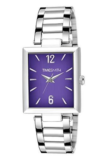 Timesmith | Timesmith Silver Stainless Steel Purple Dial Watch For Men TSC-132 For Men