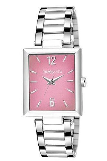 Timesmith | Timesmith Silver Stainless Steel Pink Dial Watch For Men TSC-133 For Men