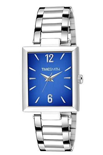 Timesmith | Timesmith Silver Stainless Steel Blue Dial Watch For Men TSC-134 For Men