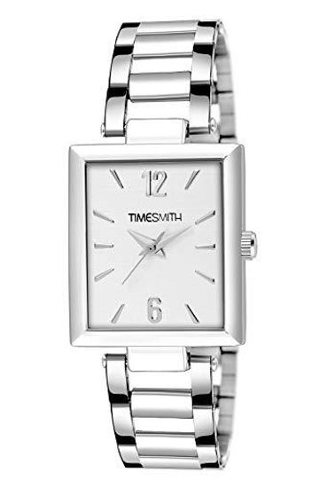 Timesmith | Timesmith Silver Stainless Steel White Dial Watch for Men TSC-135 For Men
