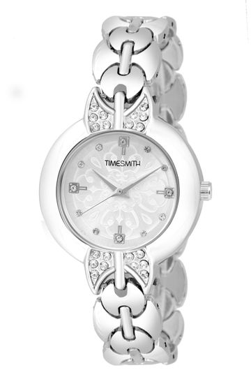 Timesmith | Timesmith Silver Dial Stainless Steel Women's Watch TSC-141 For Women