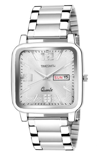 Timesmith | Timesmith Silver Dial Stainless Steel Men's Watch TSC-143 For Men