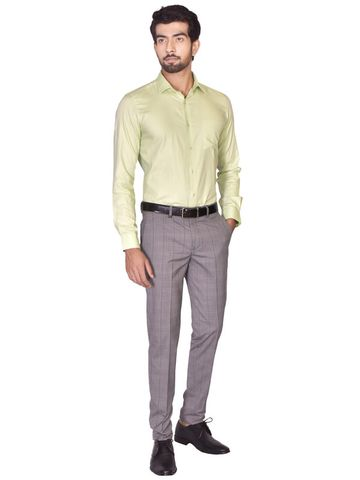 Turtle | Green Tailored Dobby/Structure Shirt