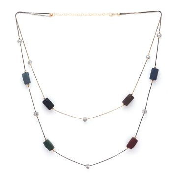 globus | Globus Metallic Long Necklace