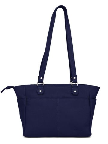 WildHorn   WildHorn Upper Grain Genuine Leather Ladies Tote, Shoulder, Hand, Shoulder Bag - Blue