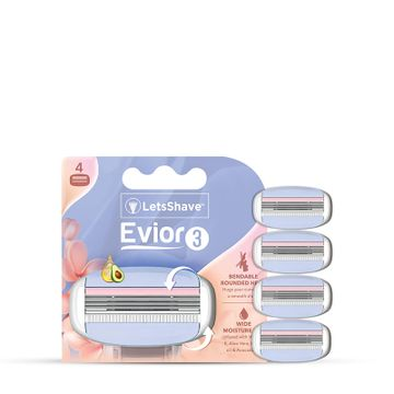 LetsShave | LetsShave Evior 3 Sensitive Blades (Pack of 4)