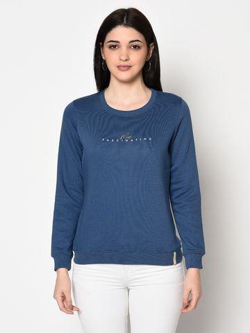 METTLE   Women DENIM Sweatshirts
