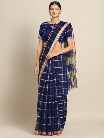 SATIMA | Satima NavyCotton SilkWeaving Saree