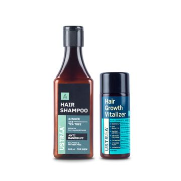 Ustraa | Hair Growth Vitalizer & Anti Dandruff Shampoo(Pack of 2)
