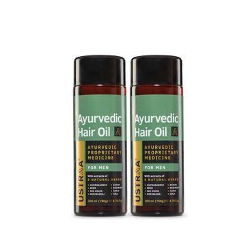 Ustraa | Ustraa Ayurvedic Hair Oil - 200ml - Set of 2