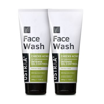 Ustraa   Ustraa Face Wash - Oily Skin (Checks Acne & Oil Control) - 200g Set of 2