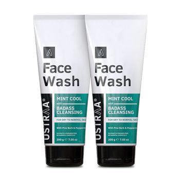 Ustraa   Ustraa Face Wash - Dry Skin (Mint Cool) - 200g Set of 2
