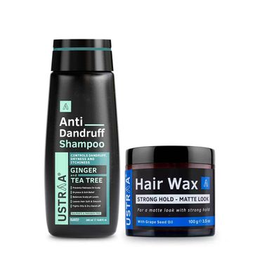 Ustraa | Ustraa Anti Dandruff Shampoo250 ml & Hair Wax Matte Look 100 g