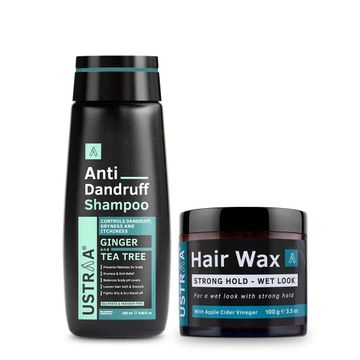 Ustraa | Ustraa Anti Dandruff Shampoo250 ml & Hair Wax Wet Look 100 g