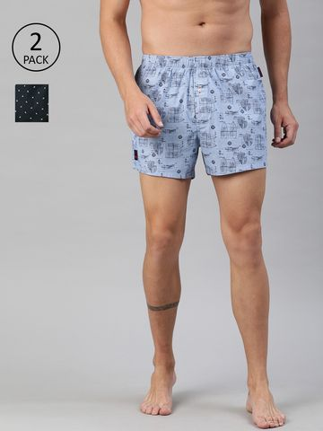 The Bear House | Men's Printed Woven Boxers