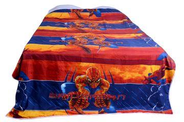 V Brown | Spiderman Printed Cotton 3 Layer Single Bed Quilt Dohar