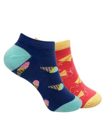 Mint & Oak | Mint & Oak Colour Pop Ankle Length Socks for Women - Combo Pack of 2