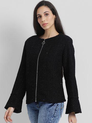 Zink London | Zink London Women's Black Solid Tailored Jacket