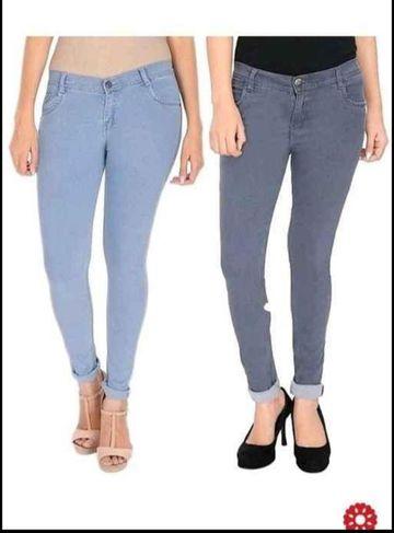 SIMARAA FAB | Simaraa Fab Dark blue denim fit High rise jeans