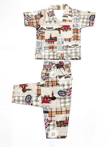 AAAKAR | Stylish Graphic Printed Cotton Blend Nightsuit Set